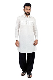 White  Pathani Suit  RK4143