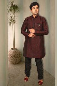 Maroon Pathani Suit BL4023
