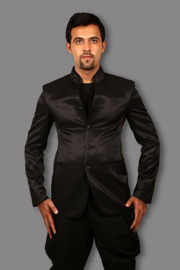 Bodylinestore | Products | JODHPURI SUIT | Stylish Black Jodhpuri Suit BL3059